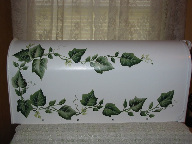 Paula S Cottage Charm Hand Painted Ivy Mailbox