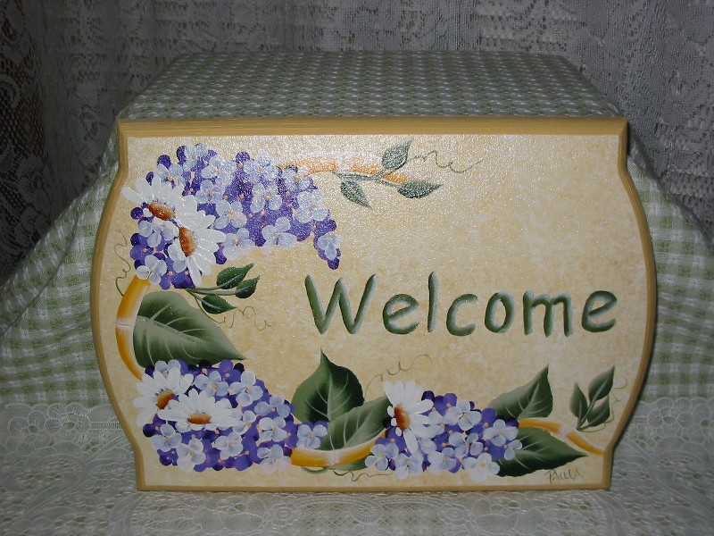 Hand Painted Welcome Signs By Paula S Cottage Charm