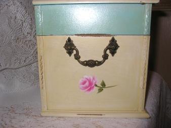 Shabby Chest with HP Pink Roses - left side