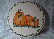 Hand Painted Lazy Susan with Pumpkins