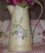 soft roses and crackle pitcher